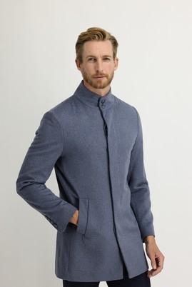 Erkek Giyim - AÇIK MAVİ 46 Beden Yünlü Kaban