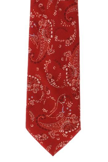Erkek Giyim - Edirne Kırmızısı Desenli Kravat