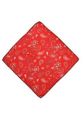 Erkek Giyim - EDİRNE KIRMIZI  Beden Edirne Kırmızısı Desenli Mendil