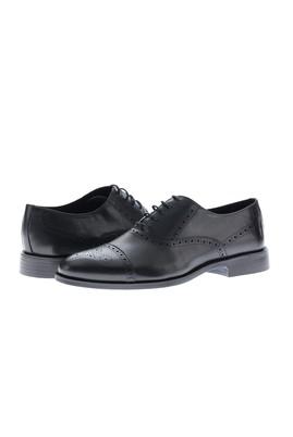 Erkek Giyim - SİYAH 42 Beden Bağcıklı Klasik Deri Ayakkabı