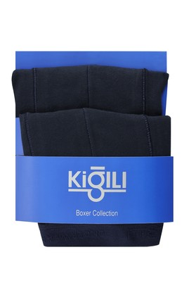 Erkek Giyim - AÇIK LACİVERT XL Beden 2'li Düz Süprem Boxer