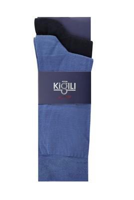 Erkek Giyim - İNDİGO 42-45 Beden 2'li Düz Çorap