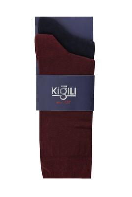 Erkek Giyim - AÇIK BORDO 42-45 Beden 2'li Düz Çorap