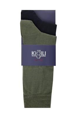 Erkek Giyim - AÇIK HAKİ 39-41 Beden 2'li Düz Çorap
