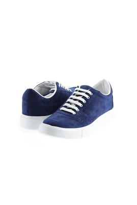 Erkek Giyim - KOYU LACİVERT 42 Beden Bağcıklı Sneaker Ayakkabı