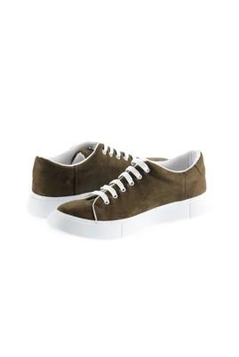 Erkek Giyim - ORTA HAKİ 43 Beden Bağcıklı Sneaker Ayakkabı