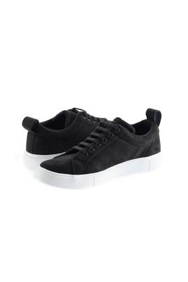 Erkek Giyim - SİYAH 43 Beden Bağcıklı Sneaker Ayakkabı