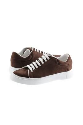 Erkek Giyim - KOYU KAHVE 42 Beden Bağcıklı Sneaker Ayakkabı