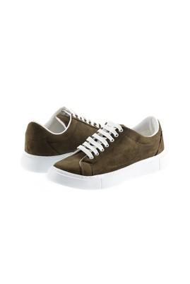Erkek Giyim - ORTA HAKİ 44 Beden Bağcıklı Sneaker Ayakkabı