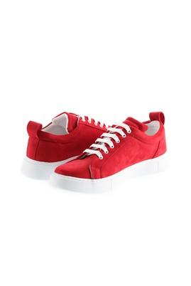 Erkek Giyim - KOYU KIRMIZI 43 Beden Bağcıklı Sneaker Ayakkabı