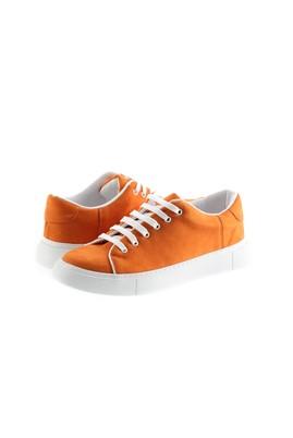 Erkek Giyim - ORTA TURUNCU 43 Beden Bağcıklı Sneaker Ayakkabı