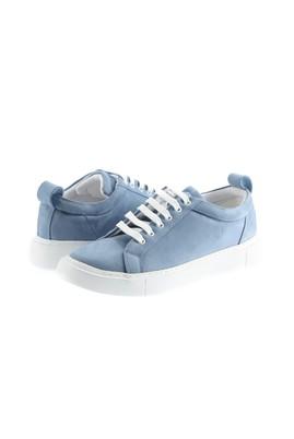 Erkek Giyim - KOYU MAVİ 43 Beden Bağcıklı Sneaker Ayakkabı