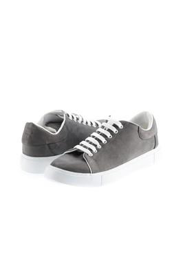 Erkek Giyim - ORTA GRİ 43 Beden Bağcıklı Sneaker Ayakkabı