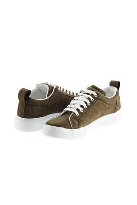 Erkek Giyim - ORTA HAKİ 45 Beden Bağcıklı Sneaker Ayakkabı