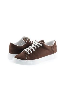 Erkek Giyim - KOYU KAHVE 41 Beden Bağcıklı Sneaker Ayakkabı