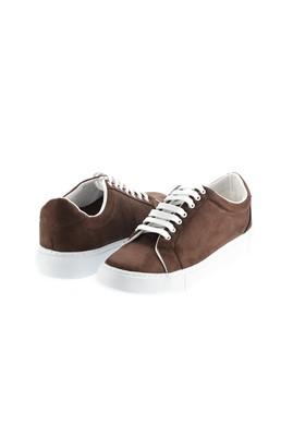 Erkek Giyim - KOYU KAHVE 43 Beden Bağcıklı Sneaker Ayakkabı