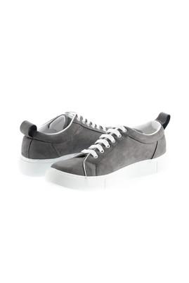 Erkek Giyim - ORTA GRİ 44 Beden Bağcıklı Sneaker Ayakkabı