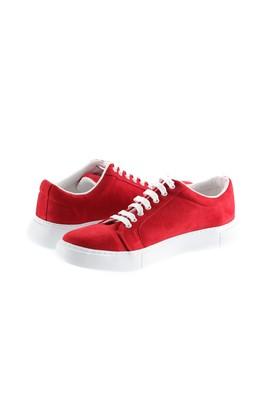 Erkek Giyim - KOYU KIRMIZI 44 Beden Bağcıklı Sneaker Ayakkabı