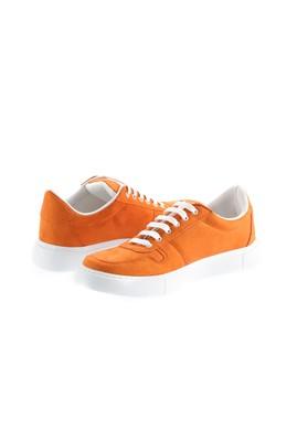 Erkek Giyim - ORTA TURUNCU 45 Beden Bağcıklı Sneaker Ayakkabı