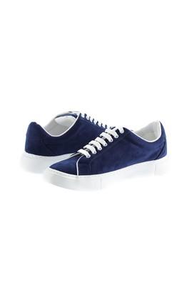 Erkek Giyim - KOYU LACİVERT 41 Beden Bağcıklı Sneaker Ayakkabı