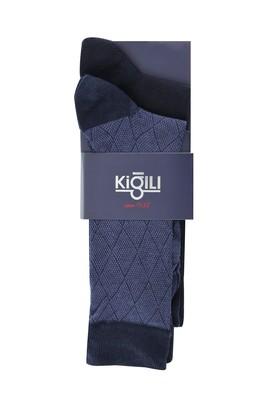 Erkek Giyim - İNDİGO 42-45 Beden 2'li Desenli Çorap