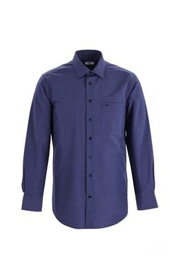 Erkek Giyim - AÇIK SARI 4X Beden Uzun Kol Regular Fit Ekose Gömlek