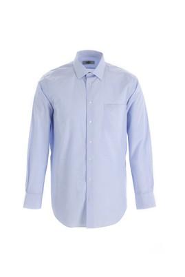 Erkek Giyim - UÇUK MAVİ XL Beden Uzun Kol Regular Fit Ekose Gömlek
