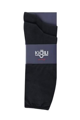 Erkek Giyim - SİYAH 39-41 Beden 2'li Düz Çorap