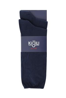 Erkek Giyim - ORTA LACİVERT 42-45 Beden 2'li Düz Çorap