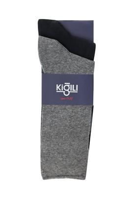 Erkek Giyim - ORTA FÜME 39-41 Beden 2'li Düz Çorap