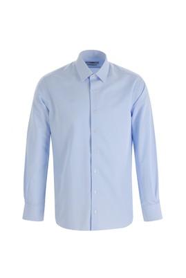 Erkek Giyim - UÇUK MAVİ XS Beden Uzun Kol Desenli Slim Fit Gömlek