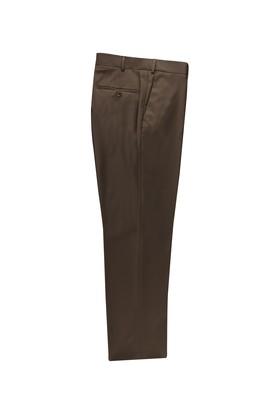 Erkek Giyim - KOYU KAHVE 56 Beden Klasik Yünlü Pantolon