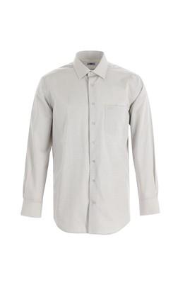 Erkek Giyim - AÇIK LACİVERT L Beden Uzun Kol Regular Fit Kareli Gömlek