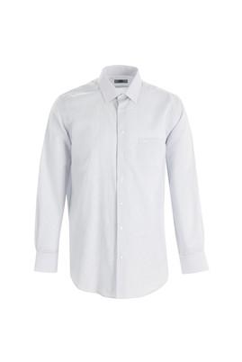 Erkek Giyim - BEYAZ XL Beden Uzun Kol Regular Fit Kareli Gömlek