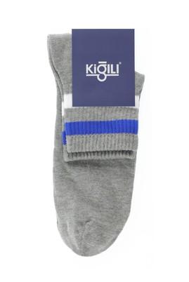 Erkek Giyim - ORTA GRİ 39-41 Beden Tekli Desenli Çorap