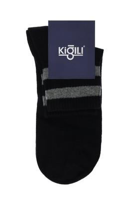 Erkek Giyim - SİYAH 42-45 Beden Tekli Desenli Çorap