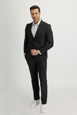 Erkek Giyim - ORTA ANTRASİT 48 Beden Slim Fit Takım Elbise