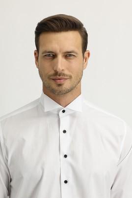 Erkek Giyim - BEYAZ L Beden Uzun Kol Ata Yaka Klasik Gömlek