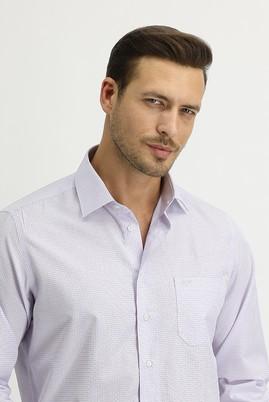 Erkek Giyim - LİLA XL Beden Uzun Kol Regular Fit Ekose Gömlek