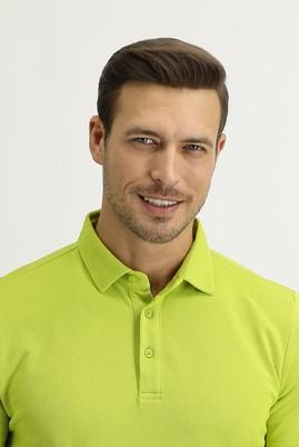 Erkek Giyim - FISTIK YEŞİLİ M Beden Polo Yaka Regular Fit Tişört
