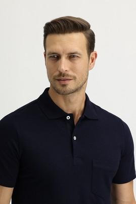 Erkek Giyim - SİYAH LACİVERT 3X Beden Polo Yaka Regular Fit Tişört