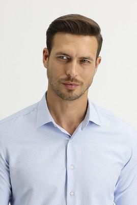 Erkek Giyim - AÇIK MAVİ M Beden Uzun Kol Slim Fit Gömlek