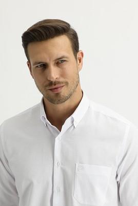 Erkek Giyim - BEYAZ L Beden Uzun Kol Regular Fit Oxford Gömlek