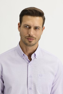 Erkek Giyim - LİLA L Beden Uzun Kol Regular Fit Oxford Gömlek