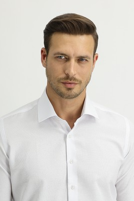 Erkek Giyim - BEYAZ XS Beden Uzun Kol Slim Fit Gömlek