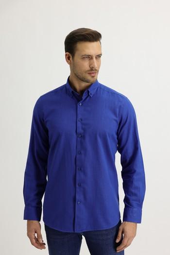 Erkek Giyim - Uzun Kol Relax Fit Gömlek