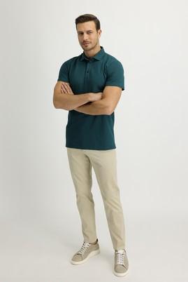 Erkek Giyim - AÇIK BEJ 48 Beden Slim Fit Saten Spor Pantolon