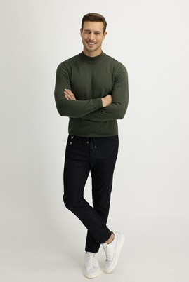 Erkek Giyim - SİYAH 50 Beden Spor Beli Lastikli İpli Pantolon