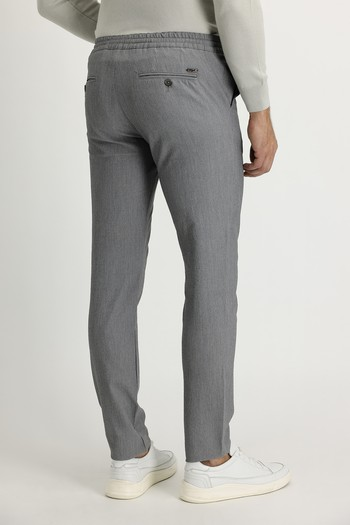Erkek Giyim - Slim Fit Beli Lastikli İpli Desenli Spor Pantolon