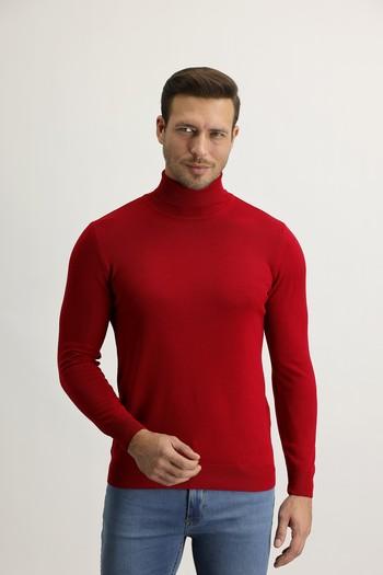 Erkek Giyim - Balıkçı Yaka Regular Fit Triko Kazak